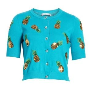 NWT 💙 Alice + Olivia Pineapple Sequin Sweater